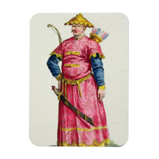 A Mandarin Warlord from 'Receuil des Estampes, Rep Rectangular Photo Magnet
