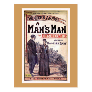 A Man's Man Vintage Book Cover Postcard