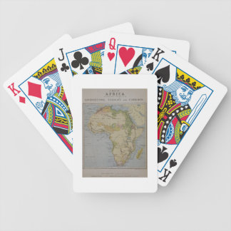 A Map of Africa to Illustrate the Travels of David Bicycle Playing Cards