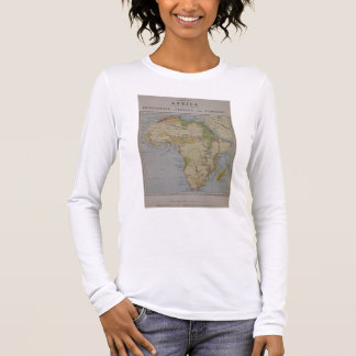 A Map of Africa to Illustrate the Travels of David Long Sleeve T-Shirt