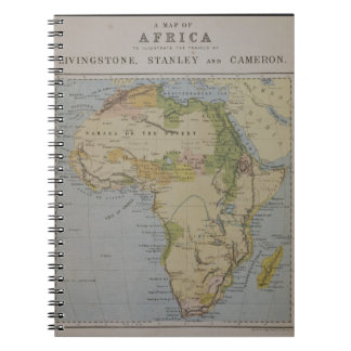 A Map of Africa to Illustrate the Travels of David Notebook