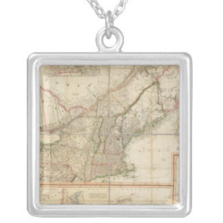 A Map of Cabotia Silver Plated Necklace