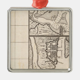 A Map of the British Empire in America Sheet 12 Christmas Ornament