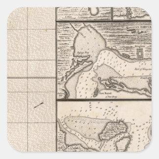 A Map of the British Empire in America Sheet 16 Square Sticker