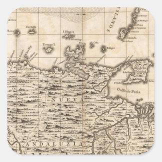 A Map of the British Empire in America Sheet 19 Square Sticker