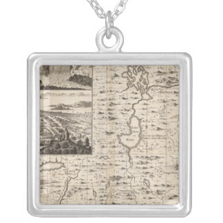 A Map of the British Empire in America Sheet 1 Silver Plated Necklace