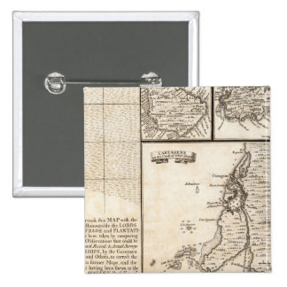A Map of the British Empire in America Sheet 20 15 Cm Square Badge