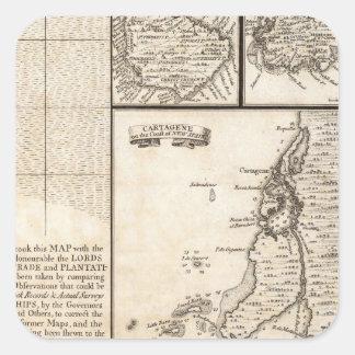 A Map of the British Empire in America Sheet 20 Square Sticker