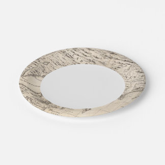 A Map of the British Empire in America Sheet 3 7 Inch Paper Plate