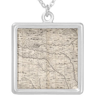 A Map of the British Empire in America Sheet 5 Silver Plated Necklace