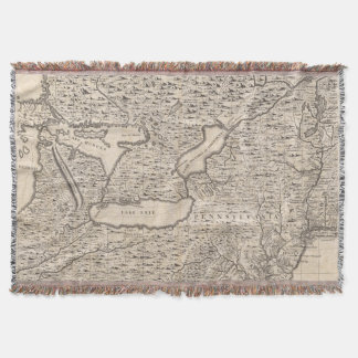 A Map of the British Empire in America Sheet 6 Throw Blanket