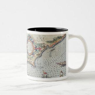 A Map of the coastline of Brittany, 1588 Two-Tone Coffee Mug