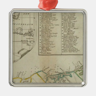 A Map of the Island of St John Christmas Ornament