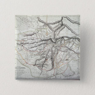 A Map of the Kingdom of Kabul 15 Cm Square Badge