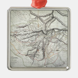 A Map of the Kingdom of Kabul Christmas Ornament