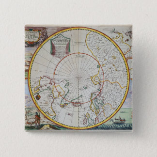 A Map of the North Pole 15 Cm Square Badge