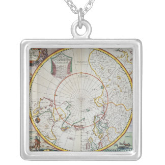 A Map of the North Pole Silver Plated Necklace