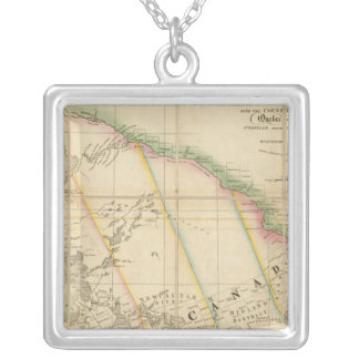 A Map of the Province of Upper Canada Silver Plated Necklace