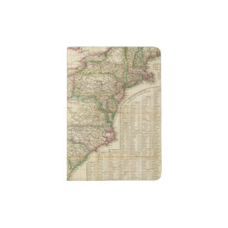 A Map Of The Roads, Canals And Steam Boat Passport Holder