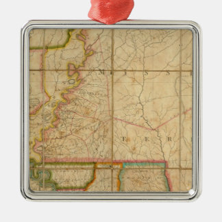 A Map of the State of Louisiana Christmas Ornament