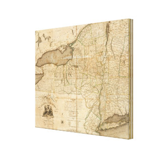 A Map of the State Of New York Canvas Print