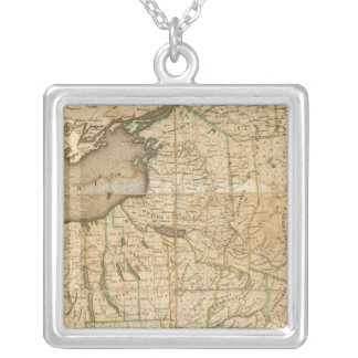 A Map of the State Of New York Silver Plated Necklace