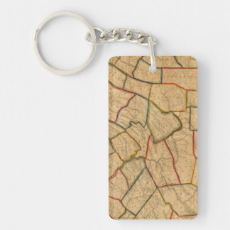 A Map Of The State Of Pennsylvania Double-Sided Rectangular Acrylic Key Ring