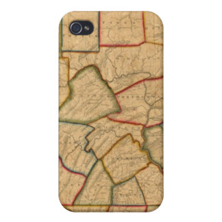 A Map Of The State Of Pennsylvania iPhone 4 Case