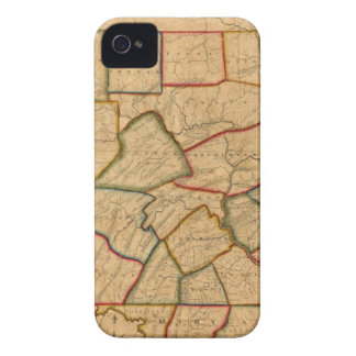 A Map Of The State Of Pennsylvania iPhone 4 Covers