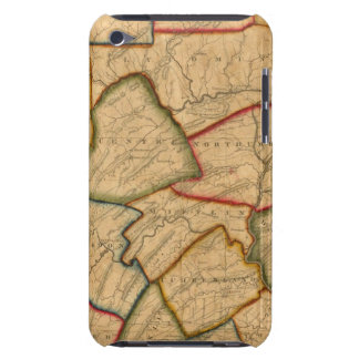 A Map Of The State Of Pennsylvania iPod Case-Mate Case