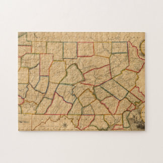 A Map Of The State Of Pennsylvania Jigsaw Puzzle