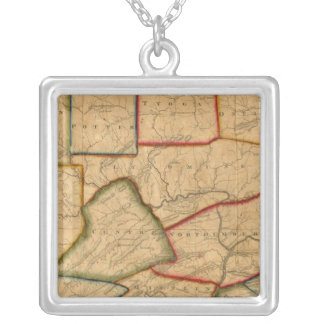 A Map Of The State Of Pennsylvania Silver Plated Necklace