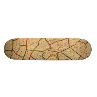 A Map Of The State Of Pennsylvania Skateboard Decks