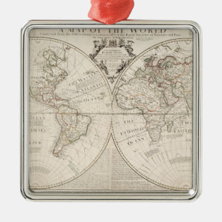 A Map of the World Christmas Ornament