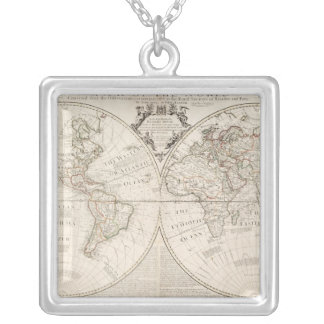 A Map of the World Silver Plated Necklace