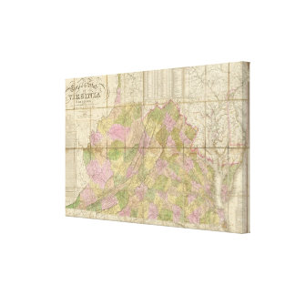 A Map of Virginia Canvas Print