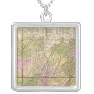 A Map of Virginia Silver Plated Necklace