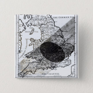 A Map Showing the Passage of  Shadow of the Moon 15 Cm Square Badge