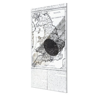 A Map Showing the Passage of  Shadow of the Moon Canvas Print