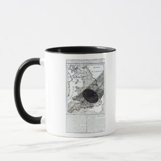 A Map Showing the Passage of  Shadow of the Moon Mug