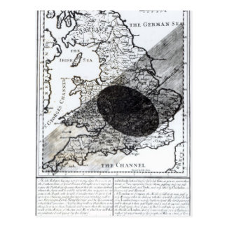 A Map Showing the Passage of  Shadow of the Moon Postcard