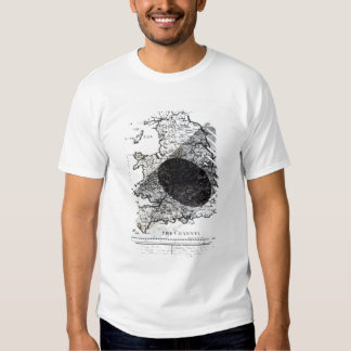 A Map Showing the Passage of  Shadow of the Moon Shirts