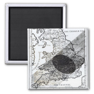 A Map Showing the Passage of  Shadow of the Moon Square Magnet