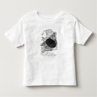 A Map Showing the Passage of  Shadow of the Moon Toddler T-Shirt