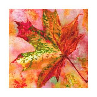A Maple Leaf. Canvas Print