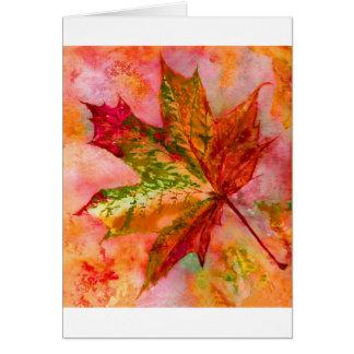 A Maple Leaf. Card