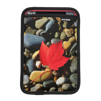 A Maple leaf on a Rock Background Sleeve For iPad Mini