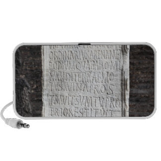 A marble Tablet from inside  The Colosseum or iPod Speaker