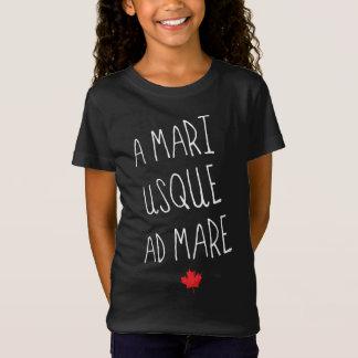 A Mari Usque Ad Mare Canadian Motto Tee Shirt