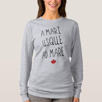 A Mari Usque Ad Mare Tee, Canadian Motto T-Shirt